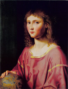 De jonge Christus als Salvator Mundi