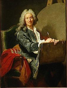 Portret van de schilder Pierre Jacqus Cazes (1676-1754)