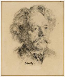 Portret van de kunstenaar Marinus Heijl (1836-1931)