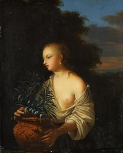 Jonge vrouw met vaas