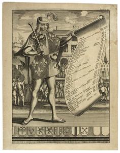 Titelblad van F. Halma, Tooneel der Vereenigde Nederlanden