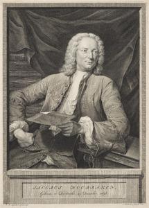Portret van Jacob Houbraken (1698-1780)