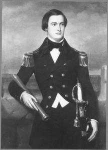 Portret van Luitenant ter Zee 2e klasse G.J. Jonckheere (1830-1908) in groot tenue