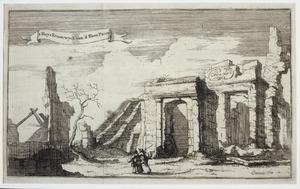 De buitenplaats Cromwijck (ook wel: Kroonwijck) bij Maarssen na de verwoesting door Franse troepen in 1673