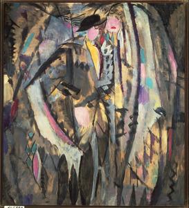 Kubistisch damesportret (studie)