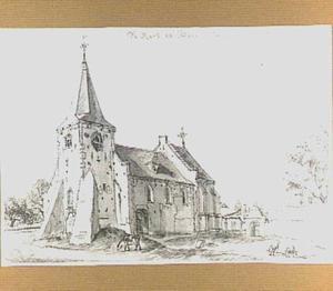 De hervormde kerk te Ommeren, gezien vanuit het zuidwesten