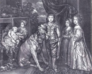 De vijf oudste kinderen van Charles I, koning van Engeland