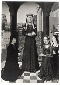 De H. Catharina van Bologna en drie stichters