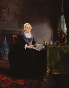 Portret van Geertje Hagen (1714-1798)