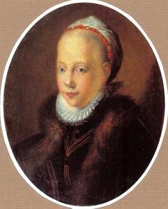 Portret van Christina Müller (....-1600)