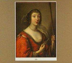 Portret van een vrouw als jageres
