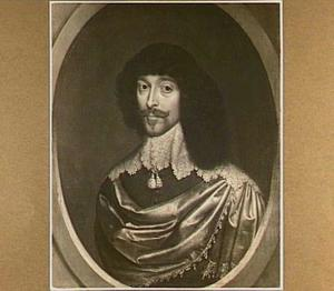 Portret van een man in een ovaal