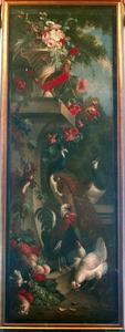 Wanddecoratie met bloemen en vogels
