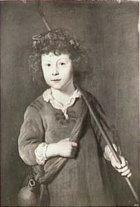 Portret van een onbekende jongen in herderskostuum