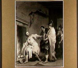Consul Manius Curius Dentatus verkiest rapen boven de geschenken van de Samnieten