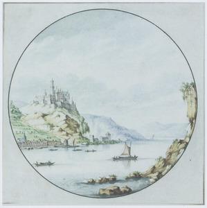 De Rijn, met het dorp Oberwesel en het kasteel Rheinfels