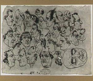 Studies van koppen, deels karikaturen
