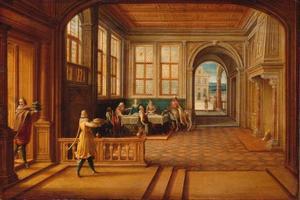 Interieur van prinselijke paleis uit de Renaissance