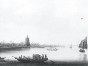 Rivieroever bij Dordrecht