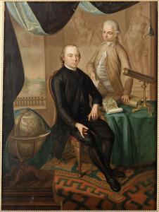 Portret van twee mannen in een studeervertrek