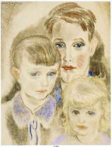 Kinderportret van Jan (1914-2005), Rob (1921-....) en Liesje (1924-2010)