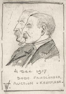Dubbelportret van Wilhelm von Bode (1845-1929) en Max J. Friedländer (1867-1958)