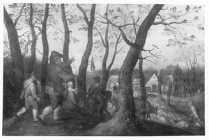De terugkeer van de herders naar het dorp