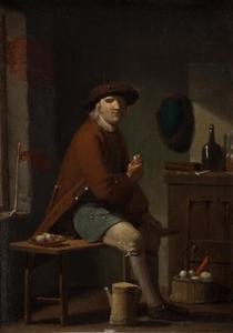 Pijprokende man in een interieur
