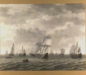Haringvloot onder bescherming van oorlogschepen