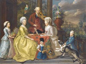 Portret van de familie van Assche