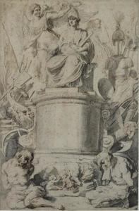 Ontwerp voor de titelpagina van J. De Bie, Nomismata Imperatorum Romanorum, Antwerp 1617