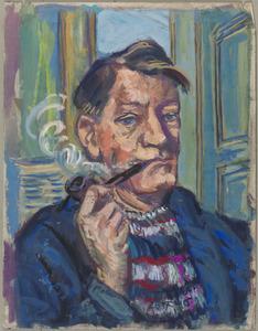 Zelfportret Fiedler met pijp