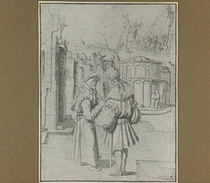 David en Joab, op de achtergrond de dood van Absalom