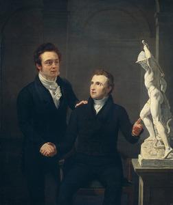 Dubbelportret van Louis Royer (1787-1847) en Albert Roothaan (1783-1868)
