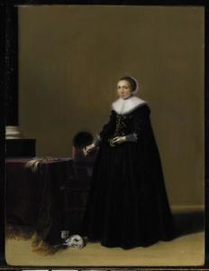 Portret van Petronella Witsen (1602-1676), echtgenote van Jacob van der Merckt