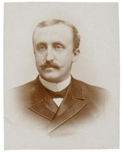 Portret van Johannes Willem Leonard Hendrik Cornelis van Oordt (1859-1904)
