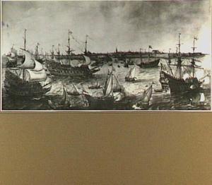 De aankomst van Frederik V van de Palts en zijn Gemalin Elizabeth Stuart te Vlissingen, 29 april 1613