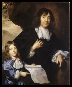 Dubbelportret van Johannes Cunaeus (1617-1673) en zijn zoon Philippus Cunaeus (....-....)