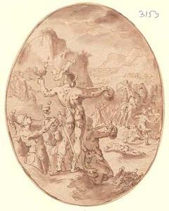 Strijd van Gideon en zijn leger tegen de Midianieten (Richteren 7:9-25)