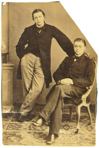 Portret van  Willem Gruno Meijer Andreae (1839-1885) en Sicco Leendert Andreae (1840-1911)