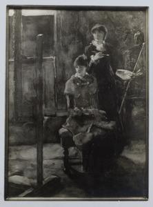 Schildersatelier van de dames van Stolk