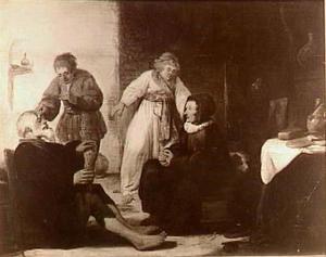 De genezing van de blindheid van Tobias vader (Tobias 11:10)