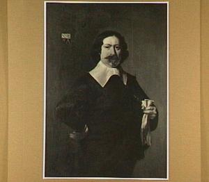 Portret van Albert Capelman (1602-1662), burgemeester van Alkmaar, echtgenoot van Anna Bloem