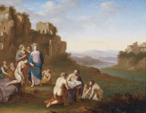 Mozes wordt gevonden door de dochter van de farao  (Exodus 2:5)