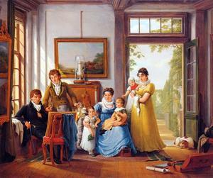 Portret van Hendrik Weymans (1760-1831) en zijn familie