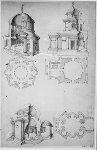 Gefantaseerde klassieke tempels