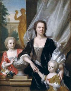 Familieportret van Sybilla Volkera Sadelijn (1699-1781), Sybilla Volkera Sichterman (1735-1803) en Christina Elisabeth Sichterman (1738-1809)