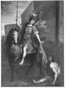 De H. Martinus deelt zijn mantel met de naakte bedelaar