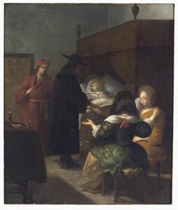 Dokter bij een ziekbed