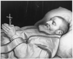 Doodsportret van Leonardus Marius (1588-1652)